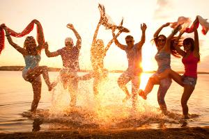 glück zufriedenheit spass freude party