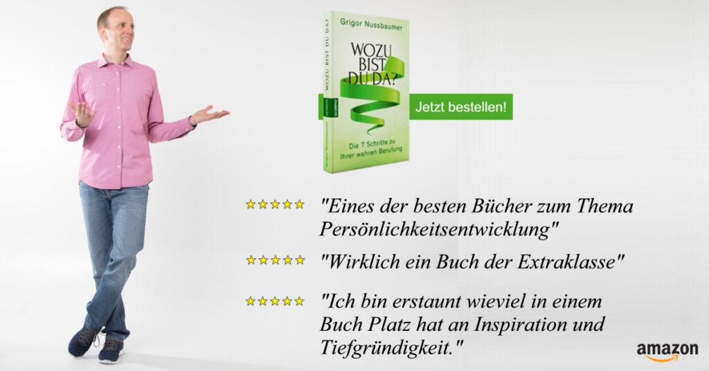 """Buch zu Berufung finden """"Wozu bist du da?"""" von Grigor Nussbaumer bei Mental Power"""
